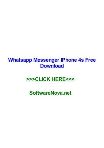 Whatsapp messenger iphone 4s free download by karenxivev - issuu
