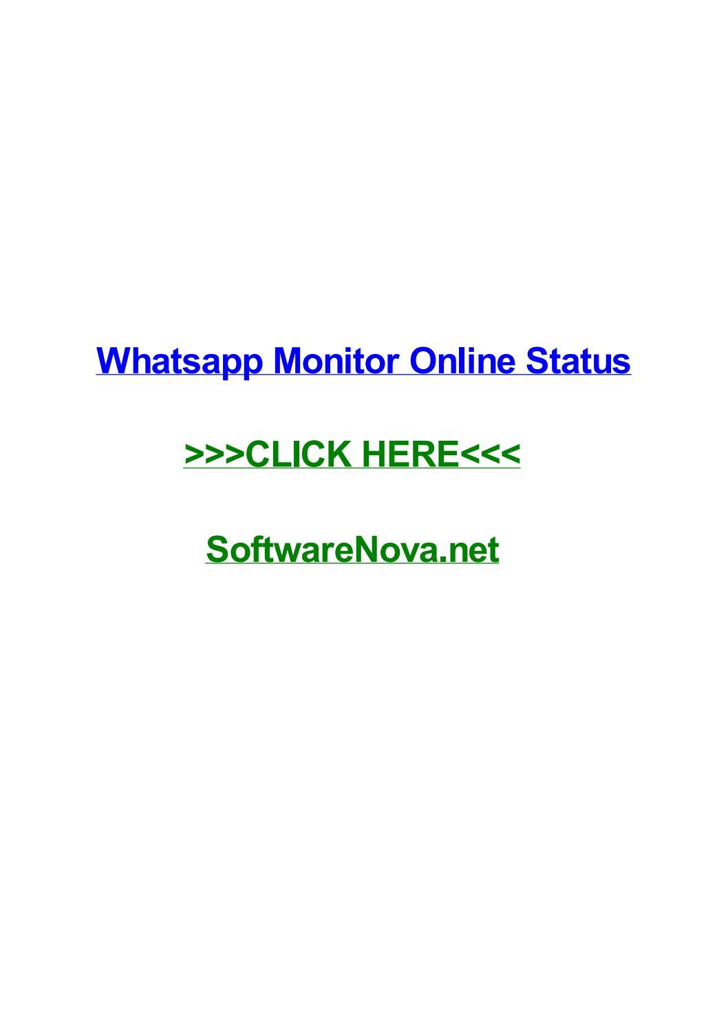Whatsapp Monitor Online Status By Arturonucmm Issuu