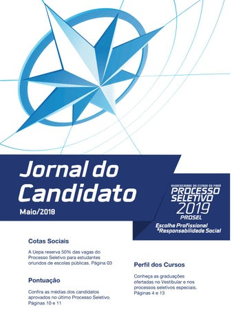 Jornal do Candidato 2019 by Universidade do Estado do Pará - issuu 1fee2d48877