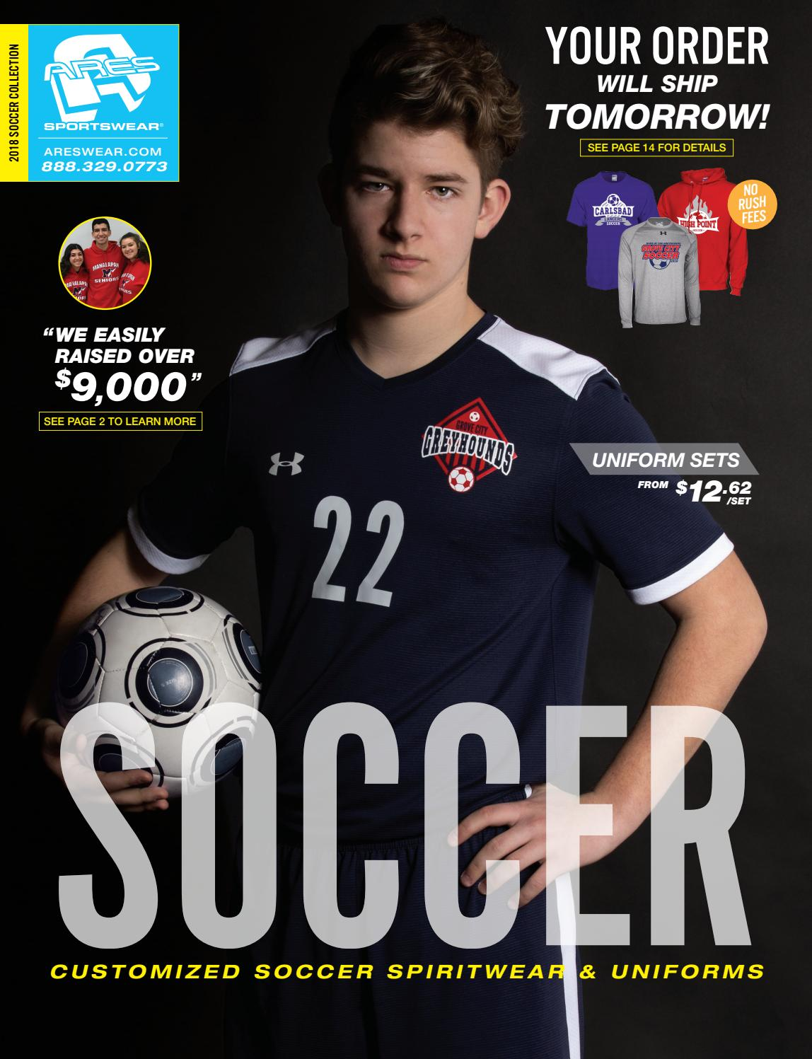 65469040a08 2018 Ares Sportswear Soccer Catalog by Ares Sportswear - issuu
