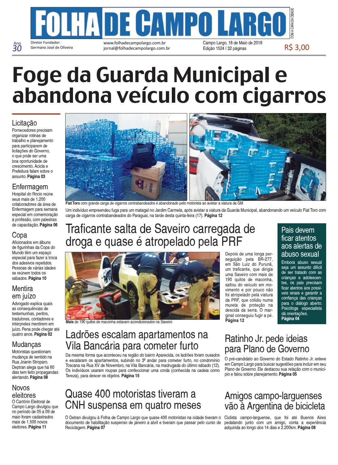 ed5e8cd9e8 Folha de Campo Largo by Folha de Campo Largo - issuu