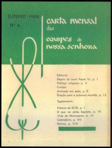 Calendario 1968.Ens Carta Mensal 1968 4 Junho