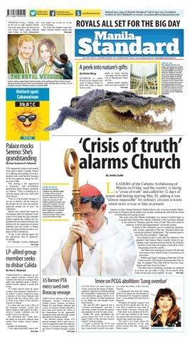 Manila Standard - 2018 May 19 - Saturday by Manila Standard