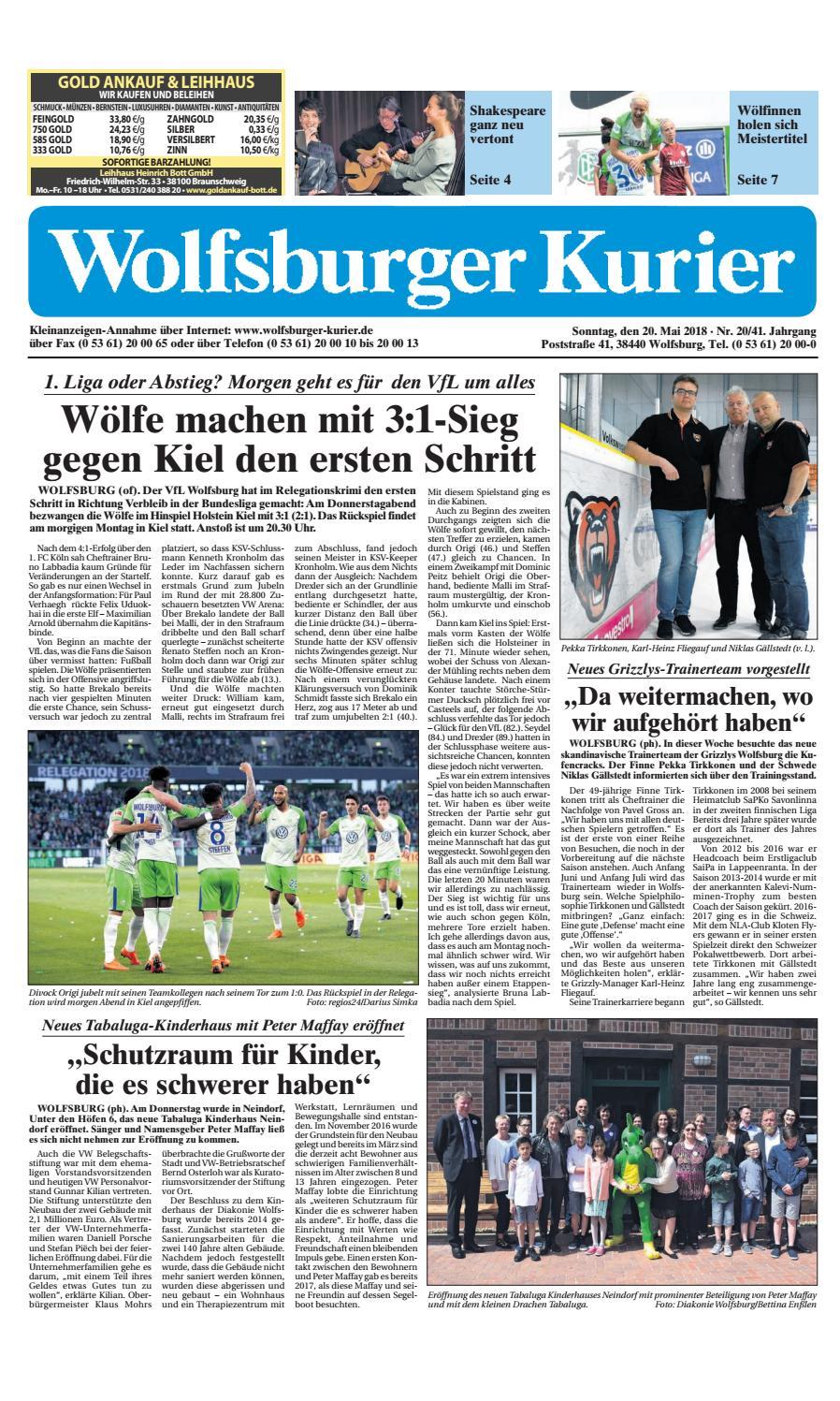 2018 05 20 by Wolfsburger Kurier issuu