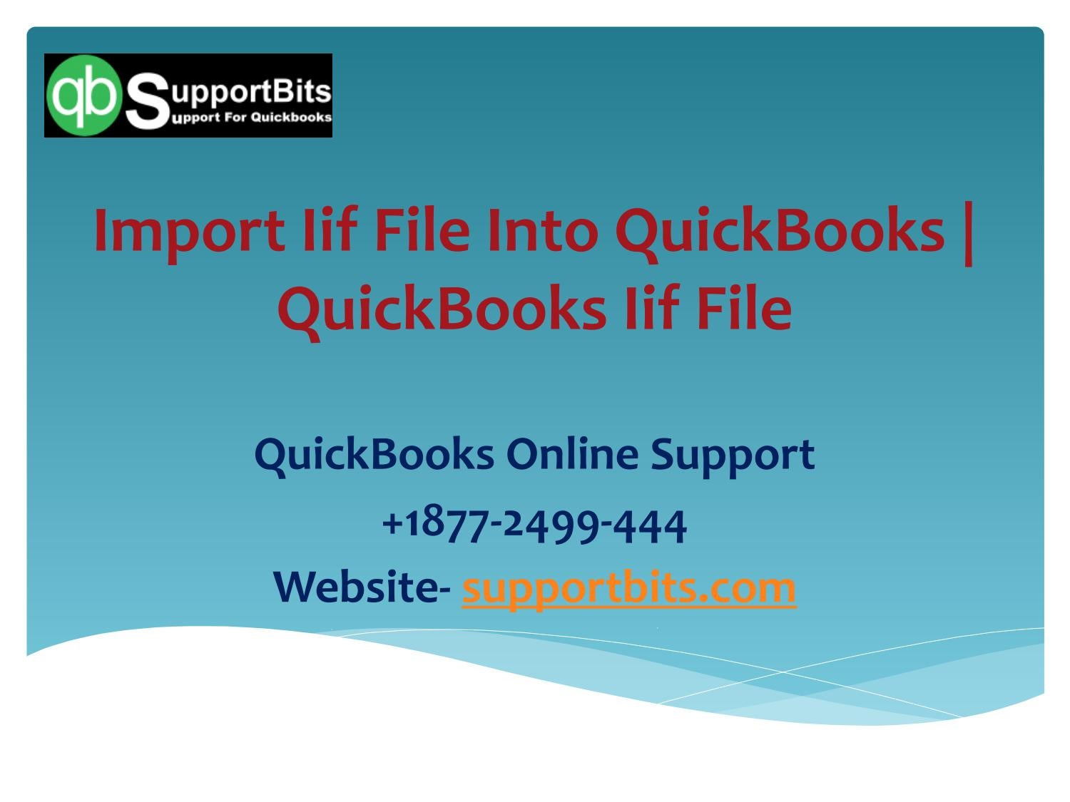 Import Iif File Into Quickbooks | Quickbooks Iif File by