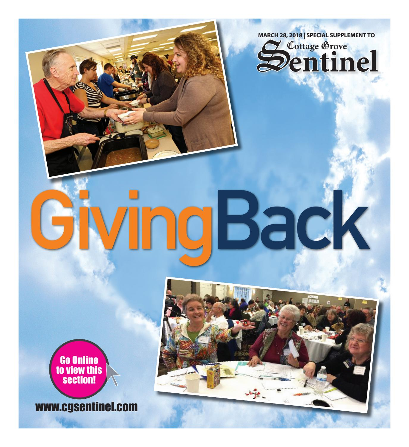 Giving Back 2018 By Cottage Grove Sentinel Issuu