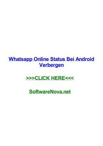Whatsapp Online Status Bei Android Verbergen By Pauliwdwm