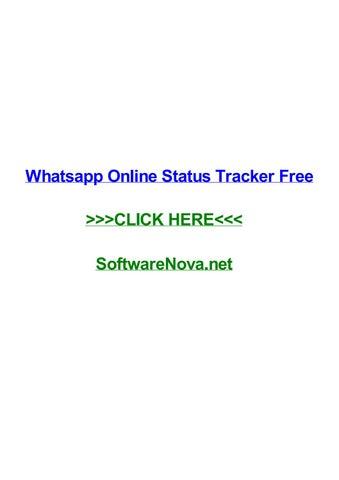 Whatsapp Online Status Tracker Free By Kelseykkmoi Issuu