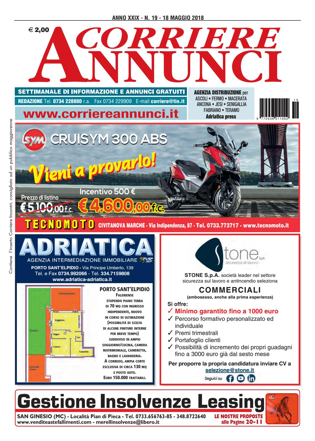 Corriere 19 2018 by Corriere Annunci - issuu f7d64171fce1