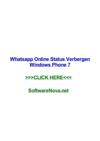 Whatsapp Online Status Verbergen Windows Phone 7 By