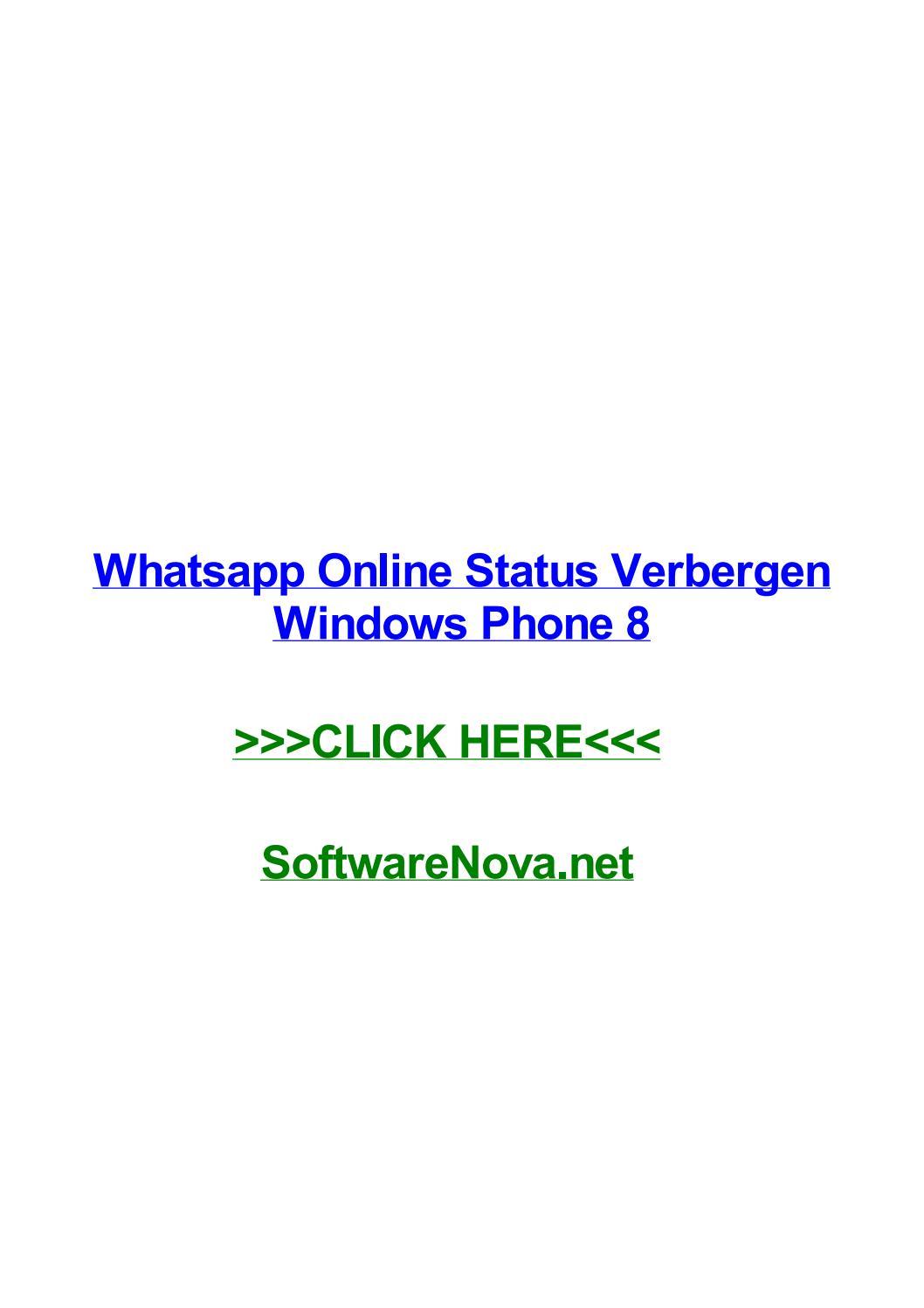 Whatsapp Online Status Verbergen Windows Phone 8 By