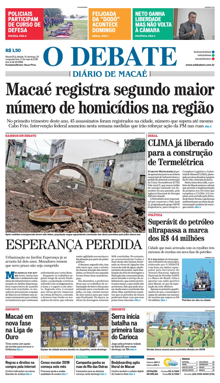 89af8d98e9 Edição 9558 19 20 21 05 2018 by O DEBATE Diario de Macae - issuu