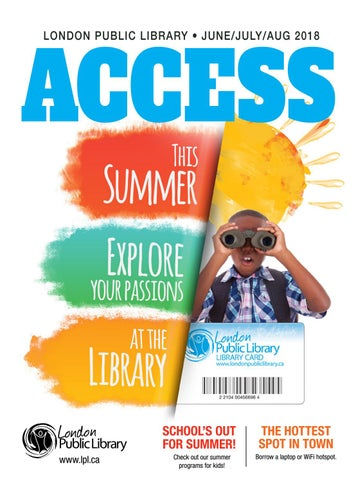 What's on this summer at London Public Library - Summer 2018