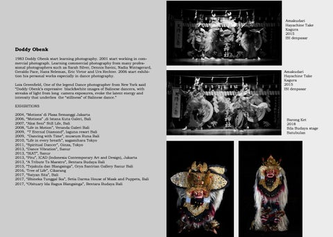 """Page 6 of """"Stillness"""" of Balinese dance"""