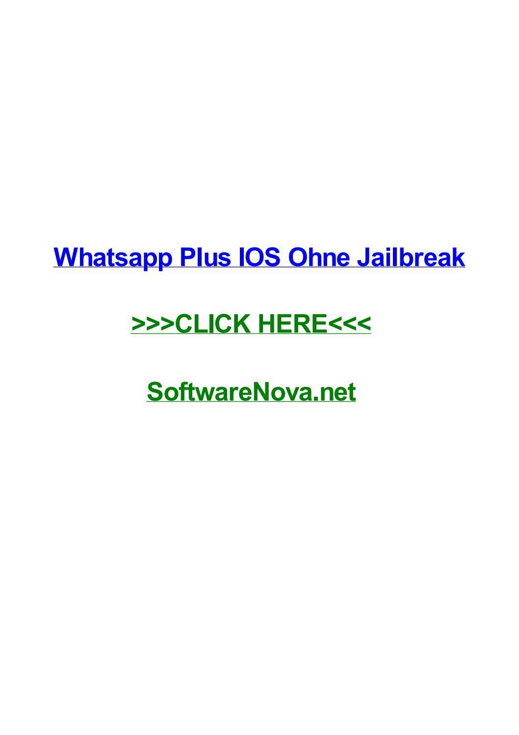 Whatsapp Plus Ios Ohne Jailbreak By Derricksueth Issuu
