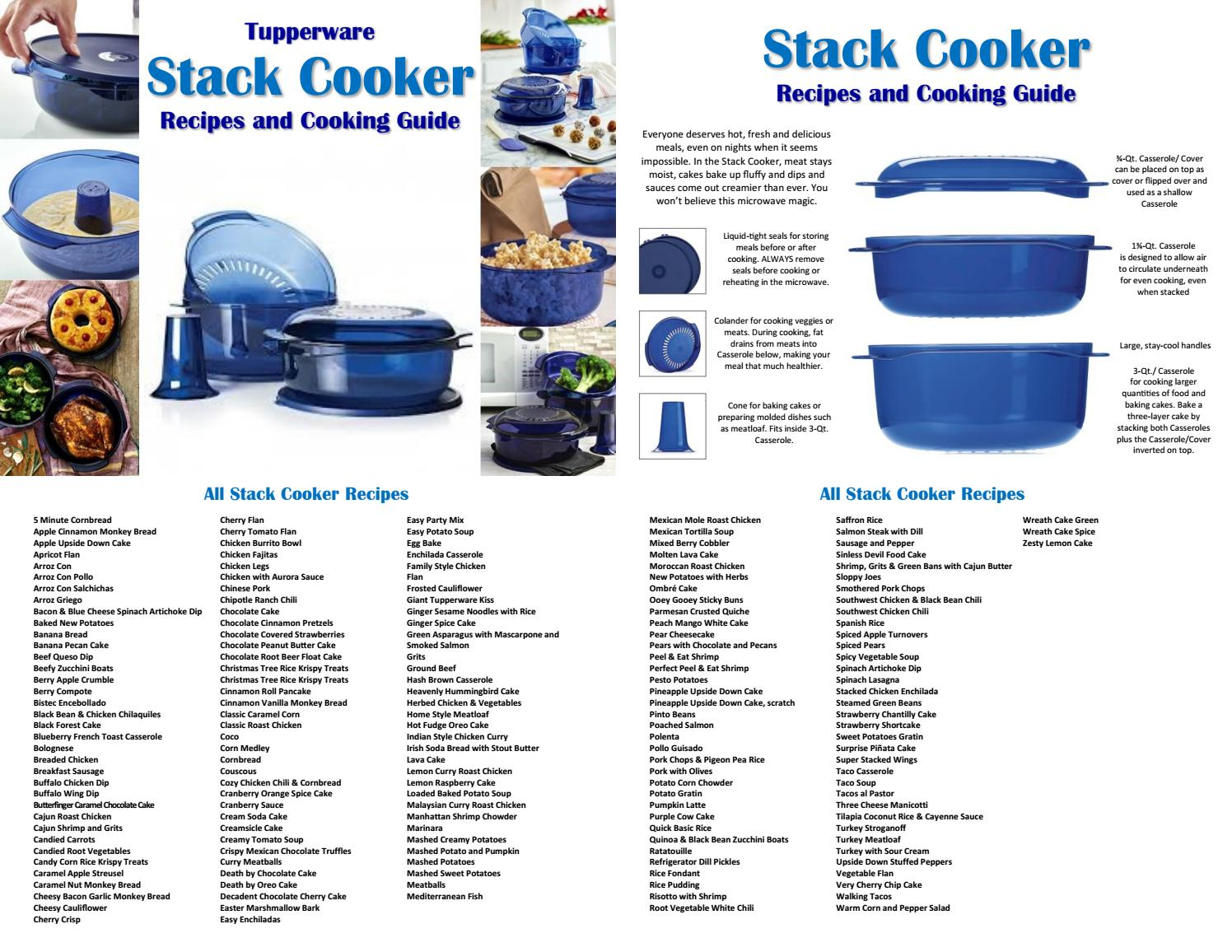 Tupperware Stack Cooker Recipes And Cooking Guide 2018 By