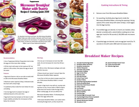 Tupperware Breakfast Maker Recipes And Cooking Guide 2018 By Tw Consultant Issuu
