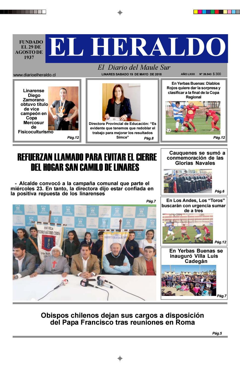 Sabado 19 de mayo 2018 by diario heraldo de linares - issuu a59567a137605