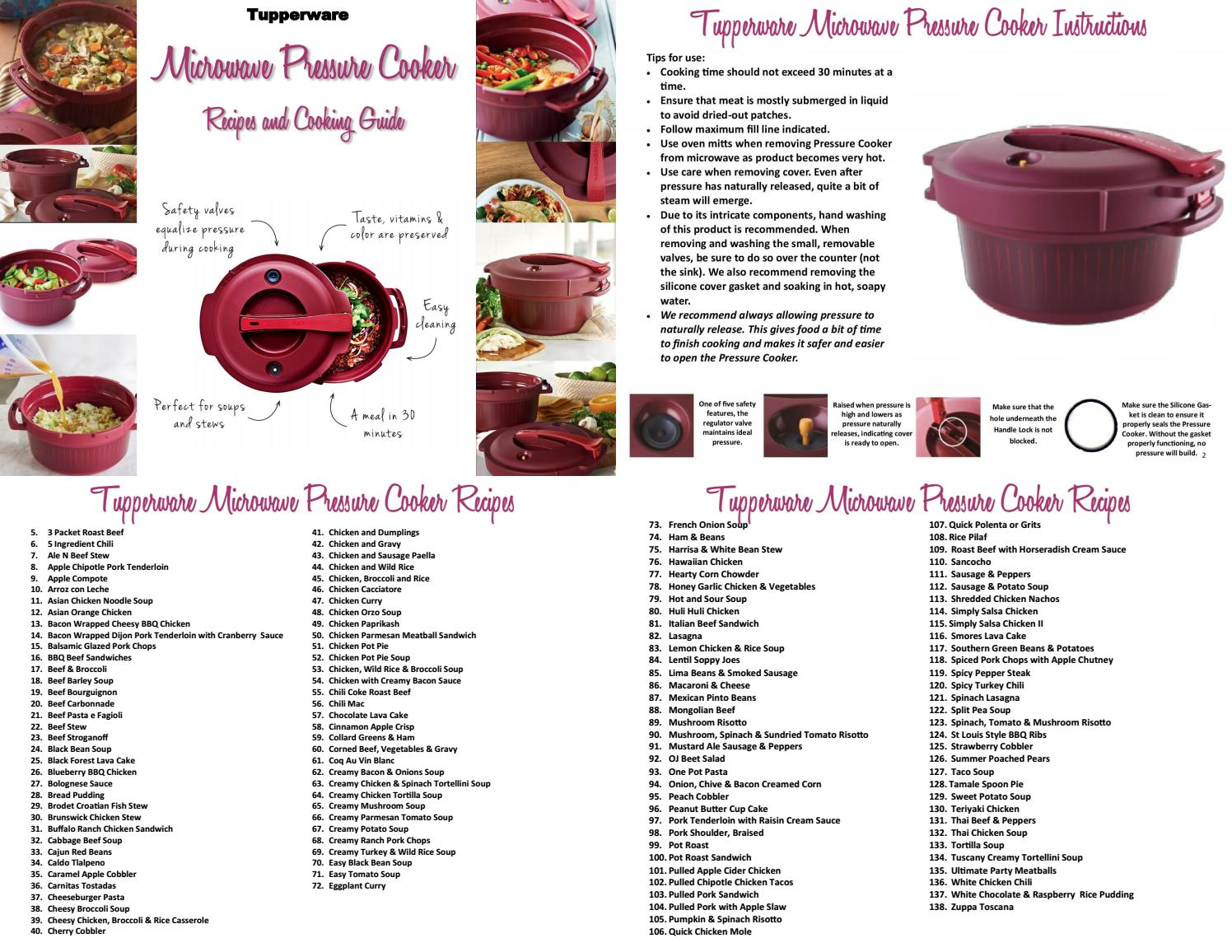 Tupperware Pressure cooker recipes and cooking guide 9 by TW