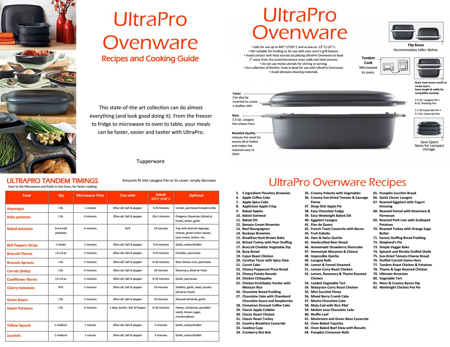Tupperware Ultrapro Recipes And Cooking Guide 2018 By Tw