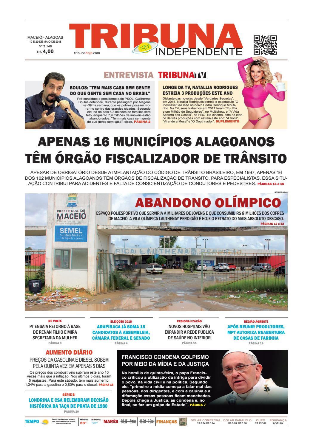 41a54867afdb4 Edição número 3148 - 19 e 20 de maio de 2018 by Tribuna Hoje - issuu