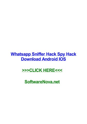Descargar whatsapp sniffer para iphone X gratis