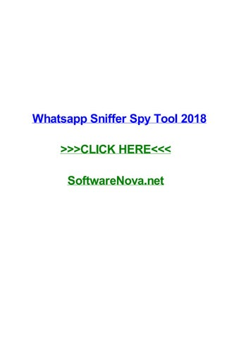 Whatsapp sniffer spy tool 2018 by jamiecplj - issuu