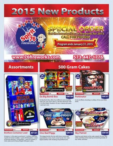 b2668c33b42b4c 2015 New Fireworks Catalog by Spirit of  76 Fireworks Wholesaler - issuu