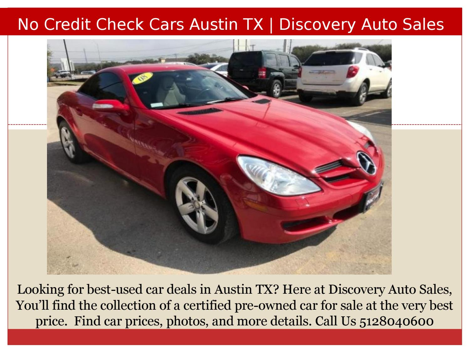 No Credit Check Car Lots >> No Credit Check Cars Austin Tx By Discovery Auto Sales Issuu
