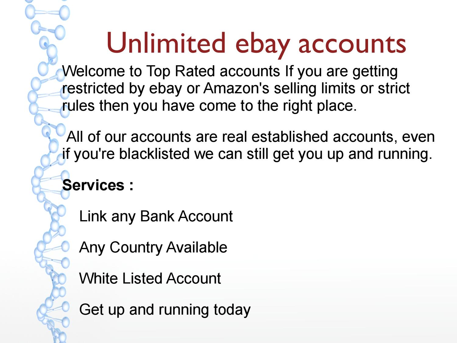 Unlimited Ebay Accounts By Luxury Linens And Things Issuu