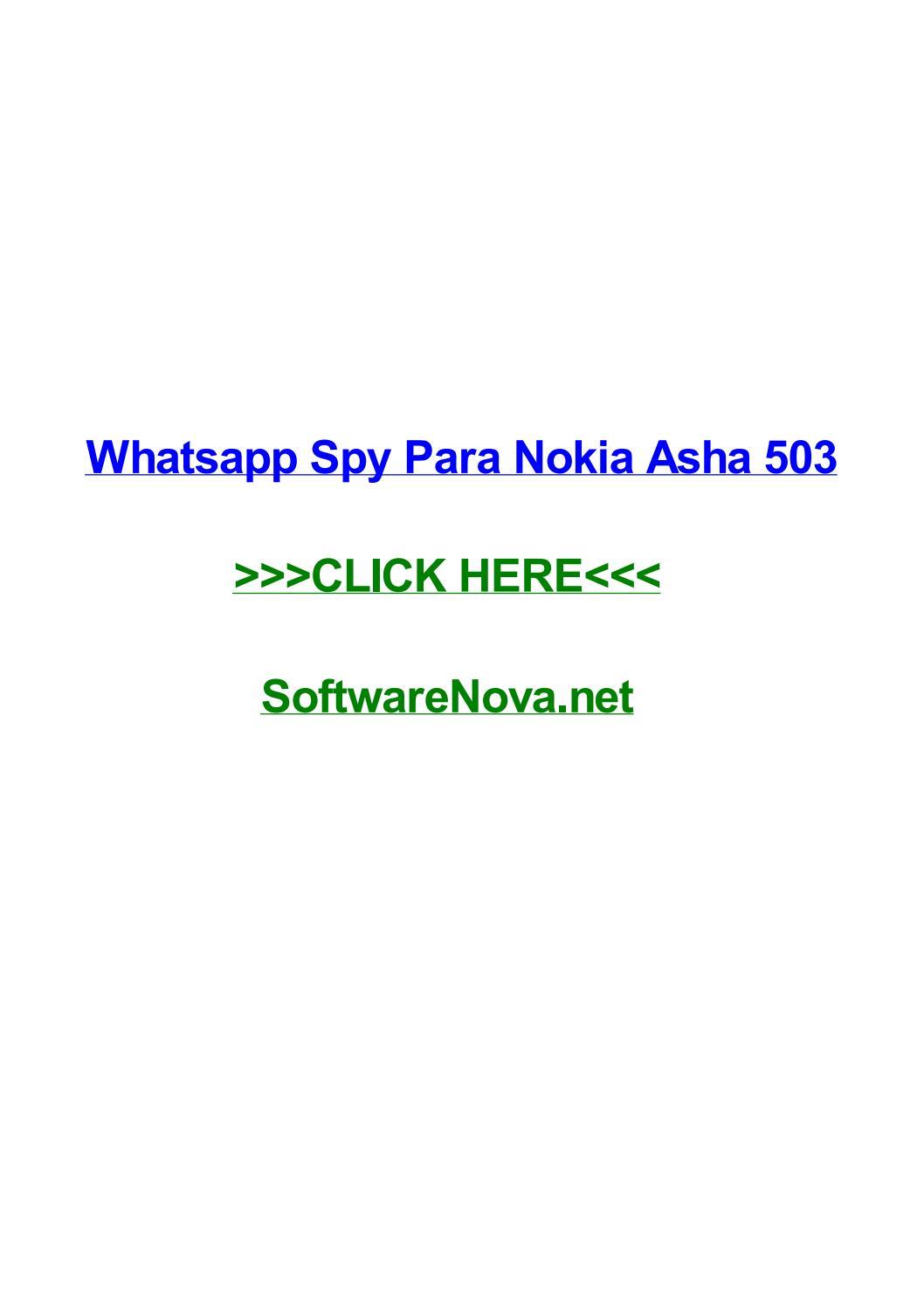 whatsapp nokia 6spy