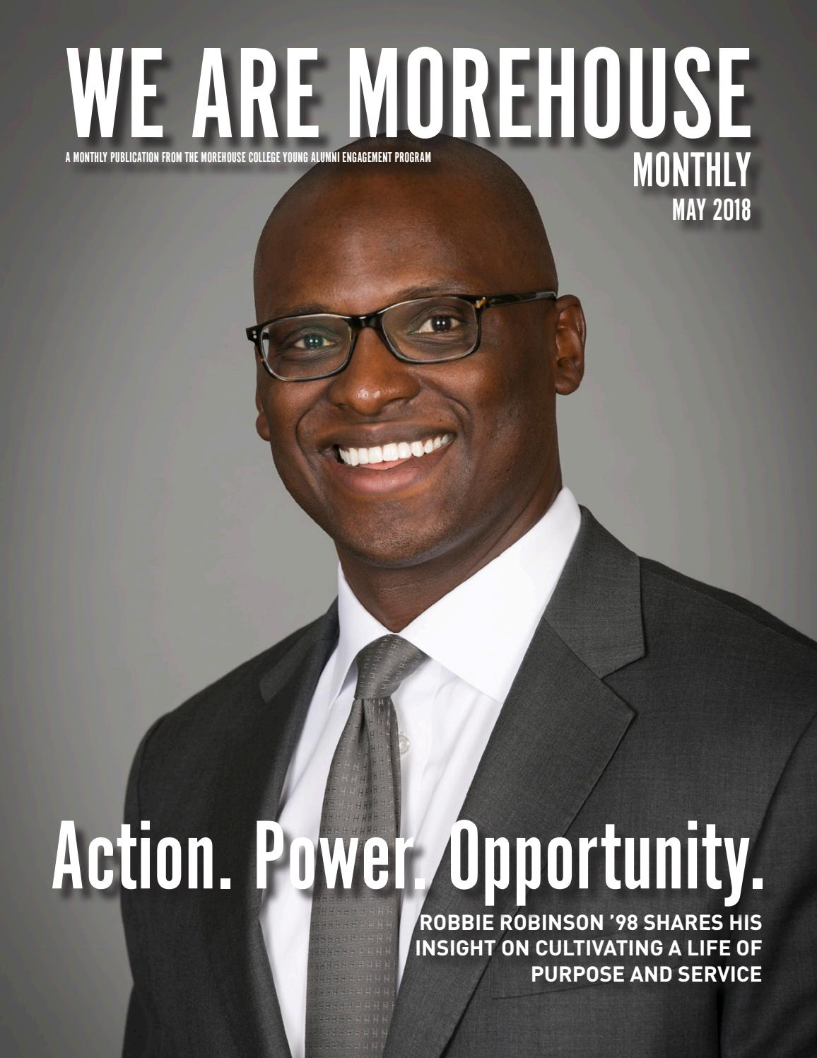 6ab360ad20b We Are Morehouse Monthly  May 2018 by Morehouse College Office of Alumni  Engagement - issuu