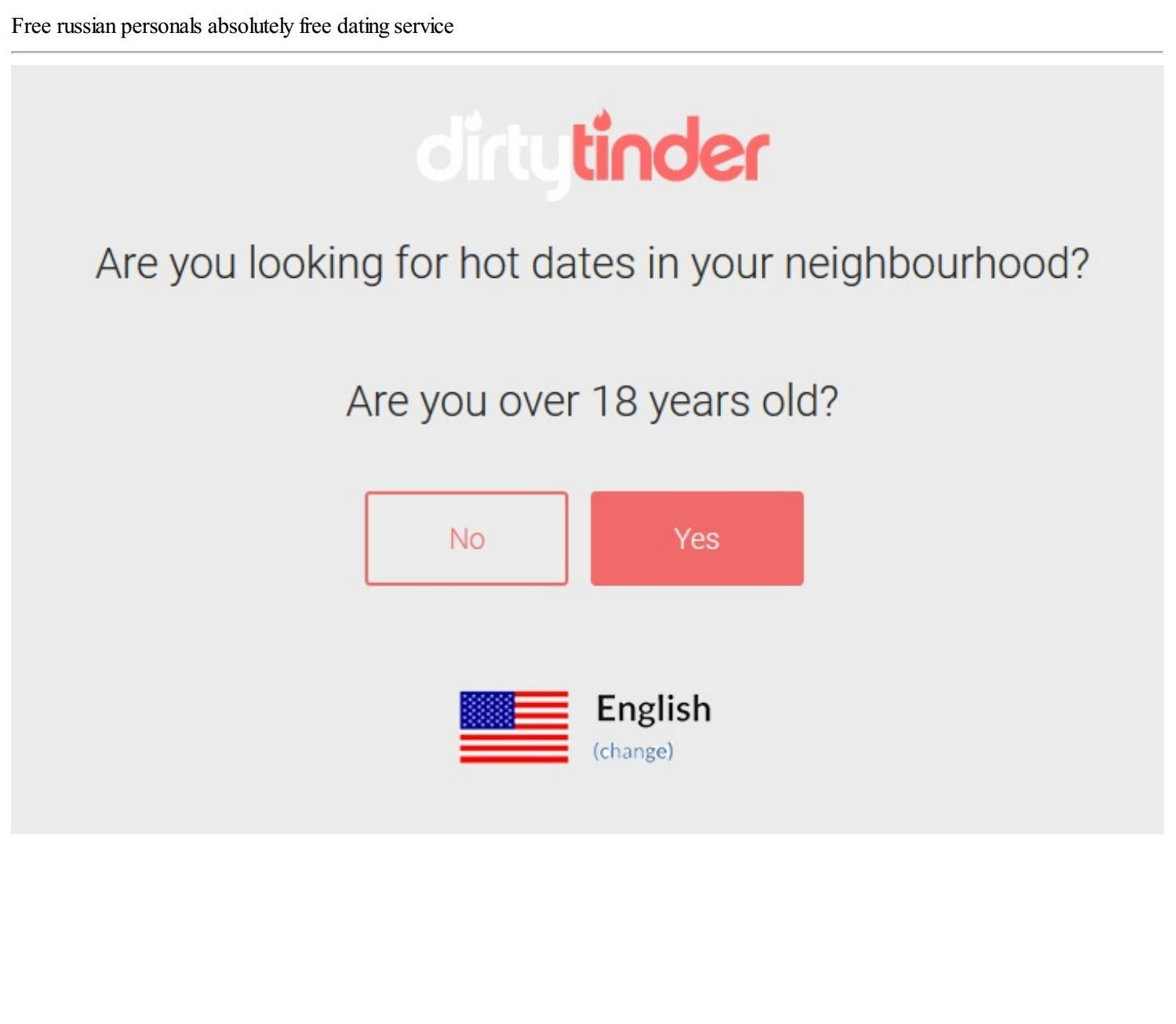absolutely free dating service