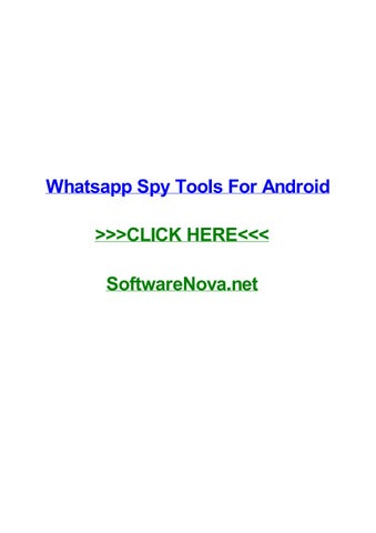 Whatsapp spy tools for android by nataliezzbsq - issuu