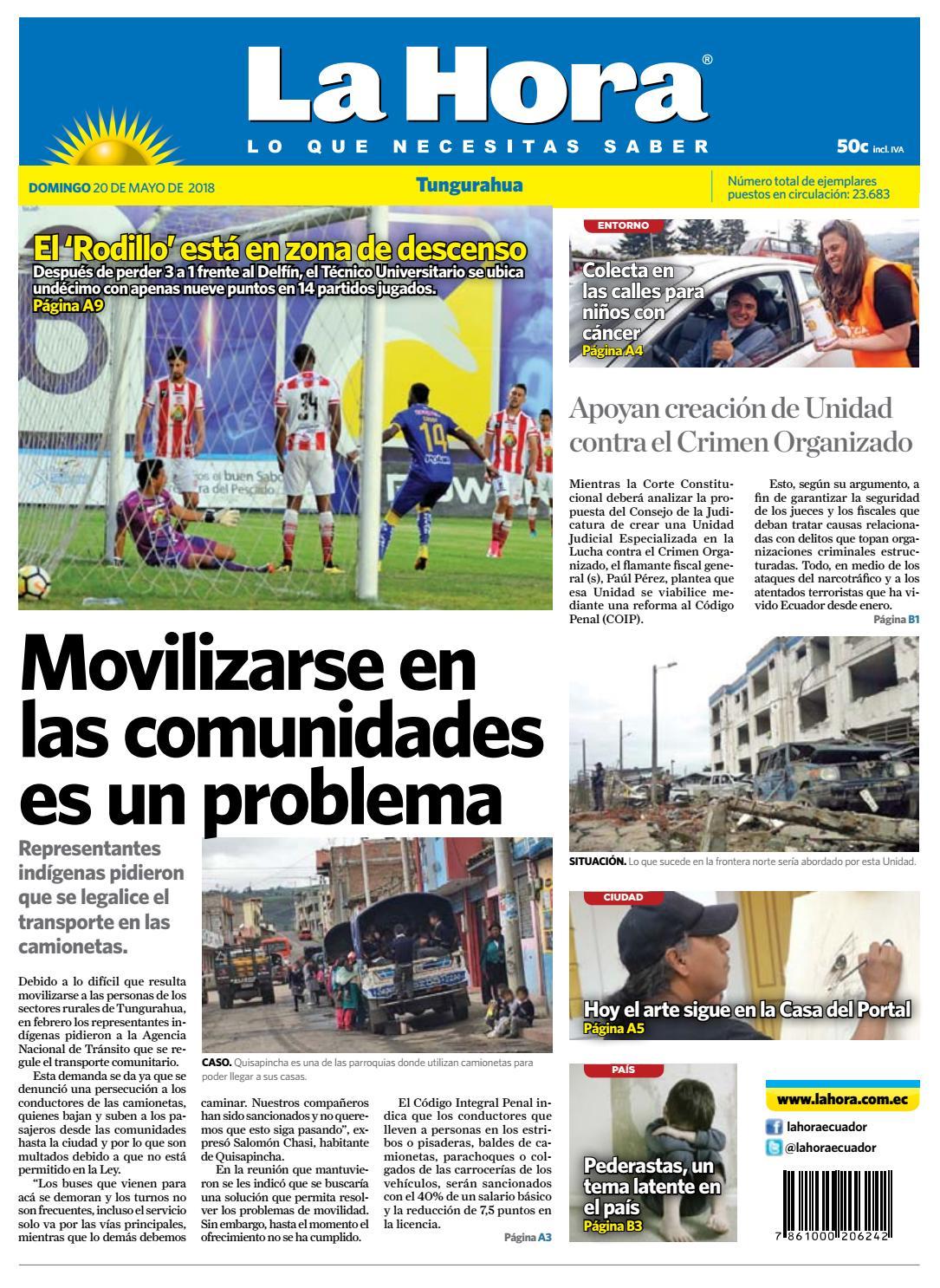 Ambato 20 mayo 2018 by Diario La Hora Ecuador - issuu 69c75037d681b