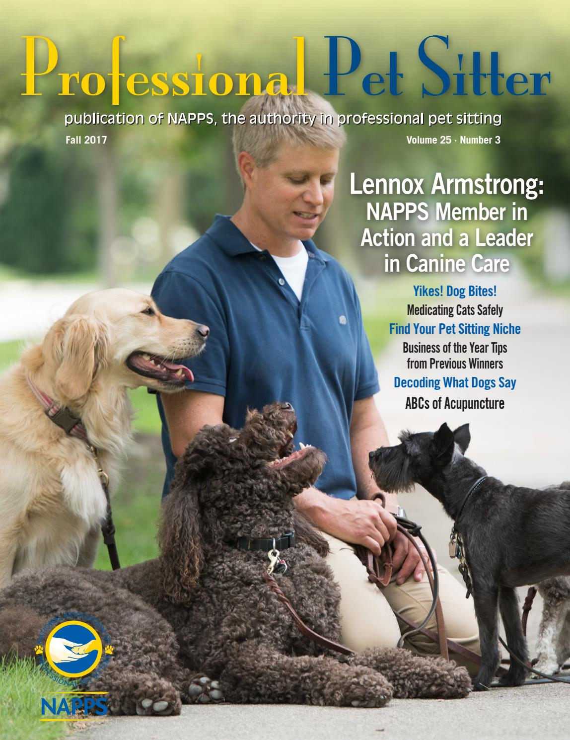 Professional Pet Sitter Magazine Fall 2017 By Erin Fenstermaker Issuu