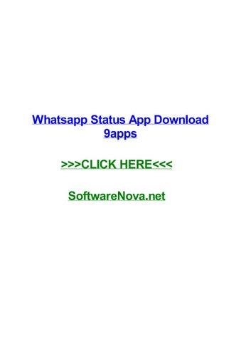 Whatsapp status app download 9apps by sergueidxzd - issuu
