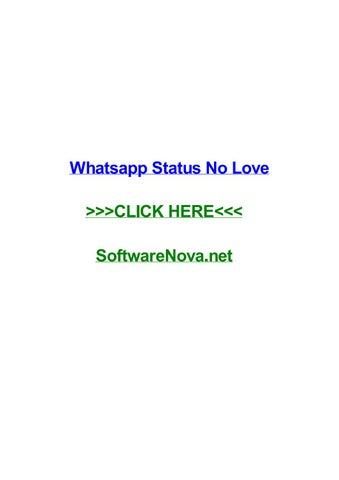 Whatsapp Status No Love By Johnyuqa Issuu