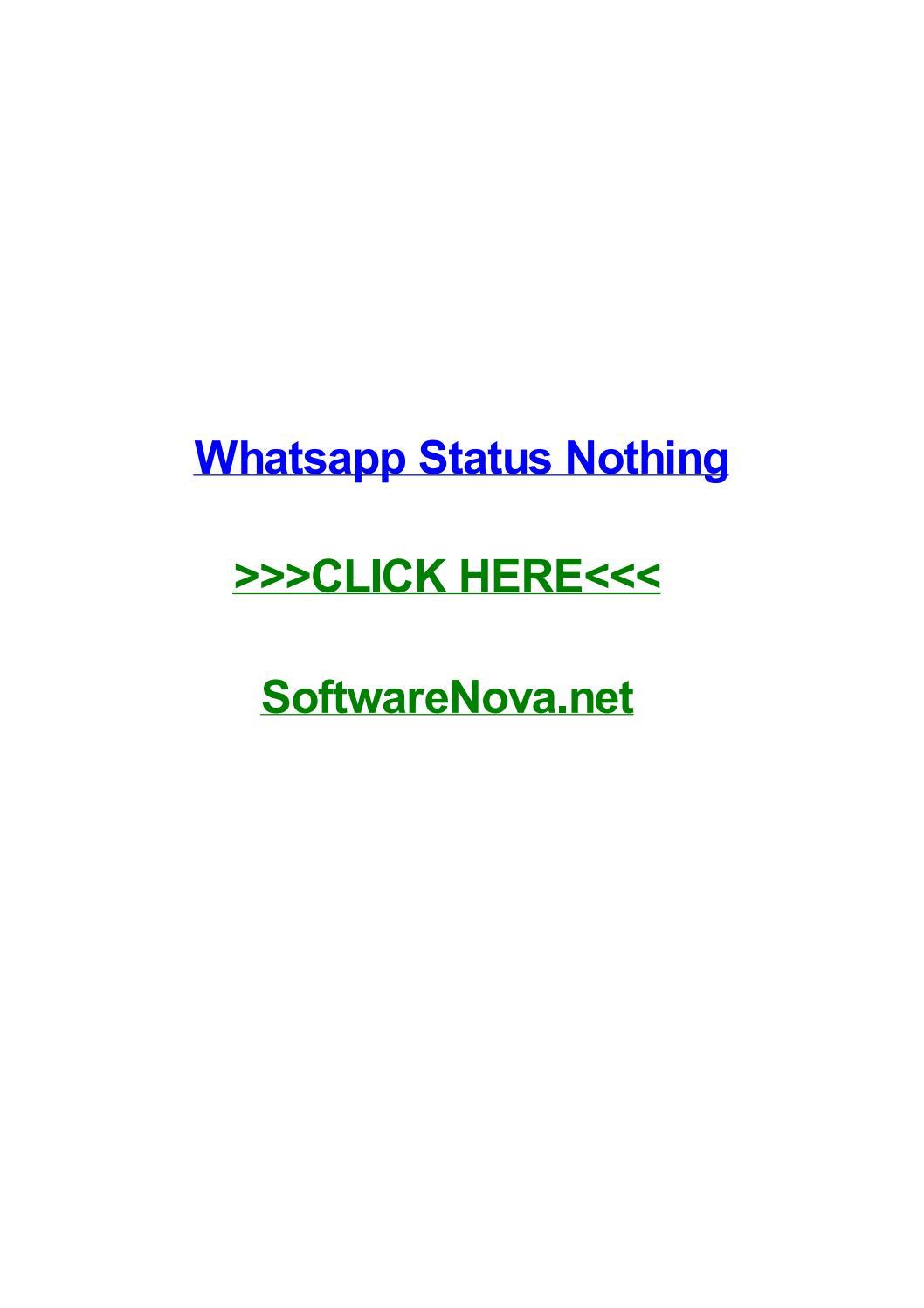 Whatsapp Status Nothing By Christinemvpb Issuu