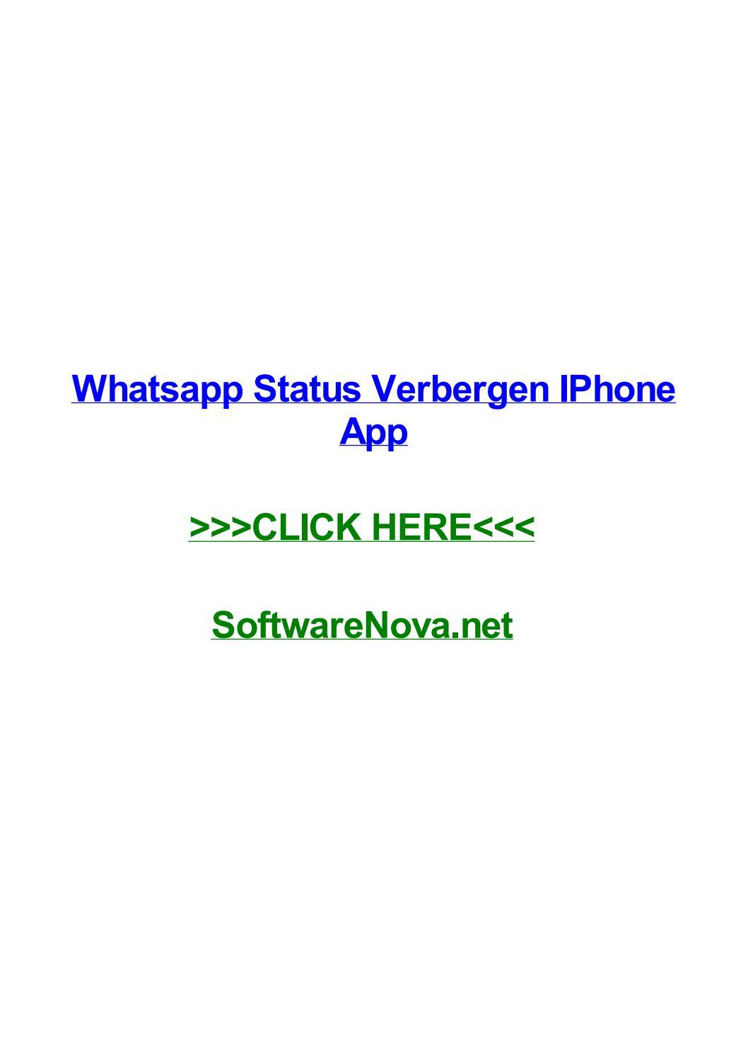 Whatsapp Status Verbergen Iphone App By Waynedhibe Issuu