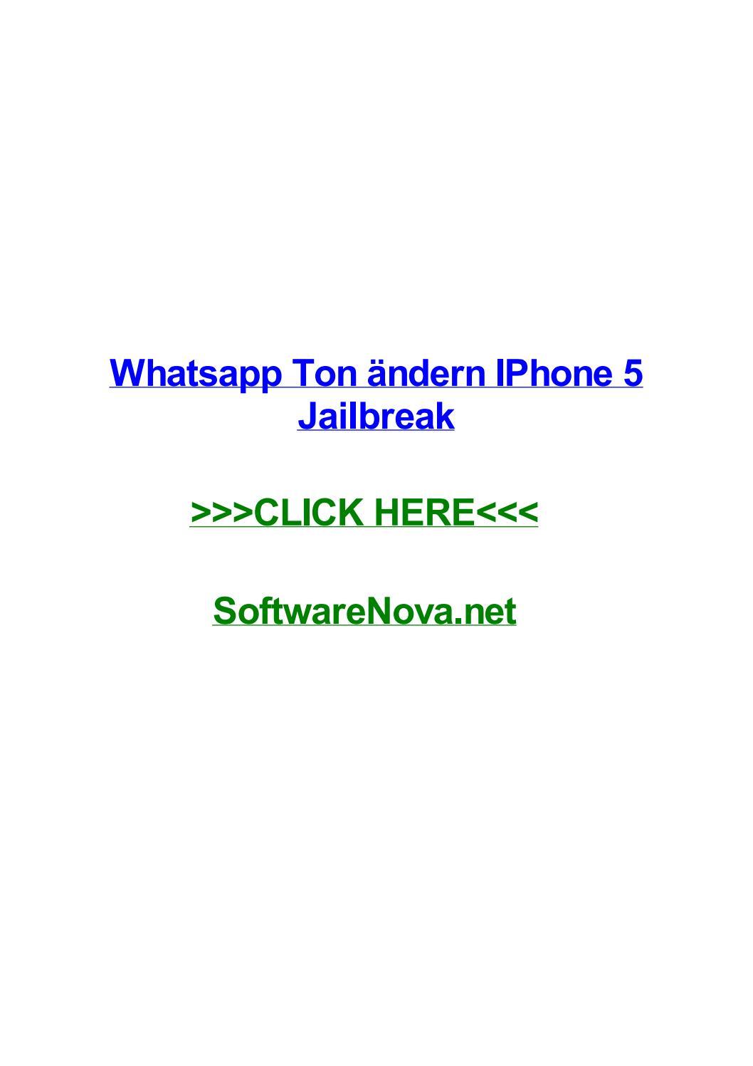 Whatsapp Ton гndern Iphone 5 Jailbreak By Melwizu Issuu