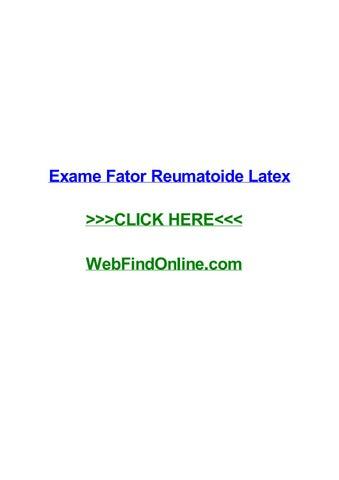 O que significa fator reumatoide látex