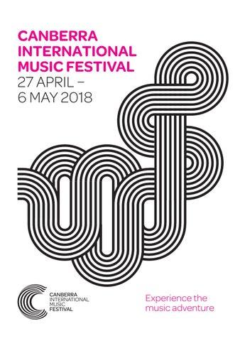 CIMF 2018 Program by Canberra International Music Festival - issuu
