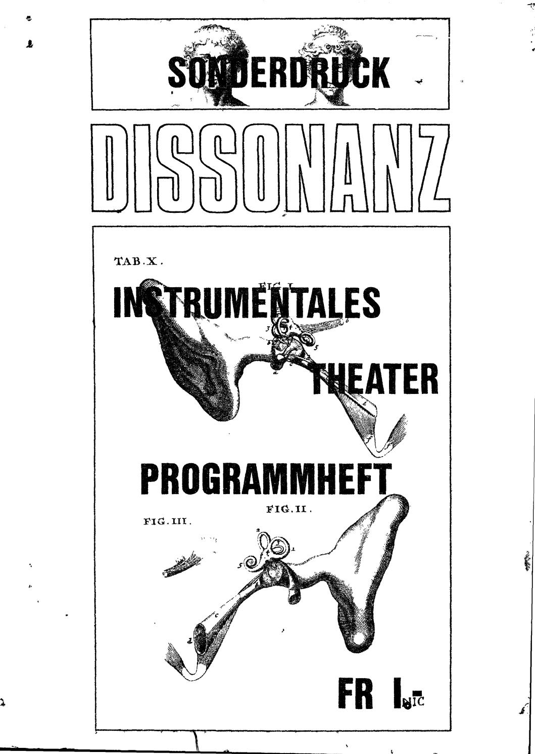 Dissonanz nr 3b, sonderheft 1969 by Max Nyffeler - issuu