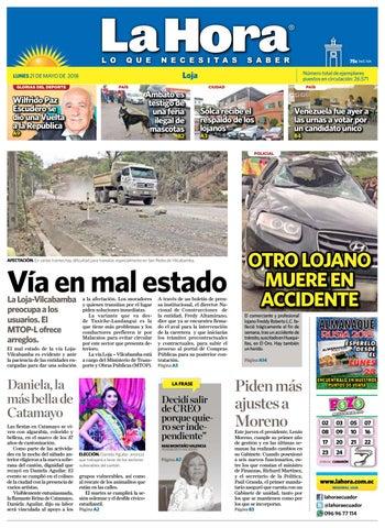 Diario La Hora Loja 21 de Mayo 2018 by Diario La Hora Ecuador - issuu f15af858e4