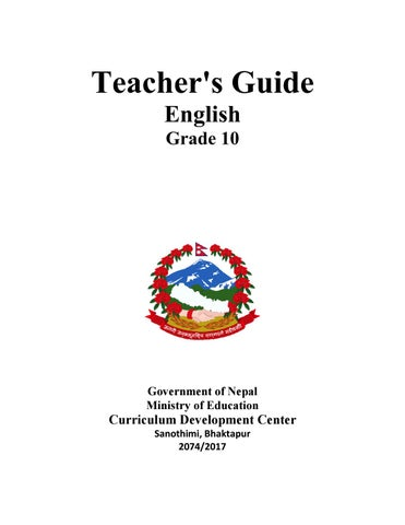 Grade ten English Teacher's Guide by Ritesh Shrestha - issuu