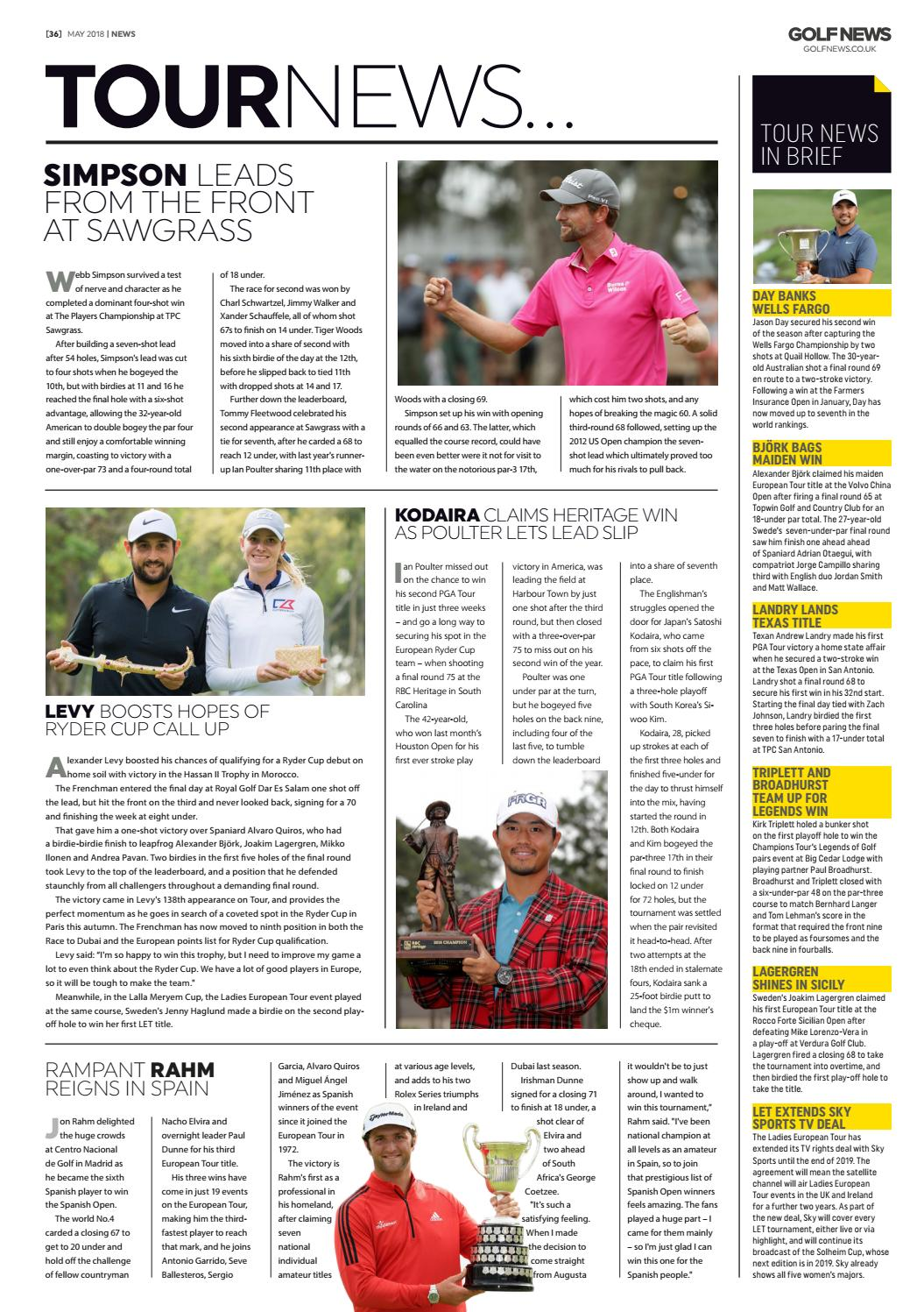 Golf News May 2018 by Golf News - issuu