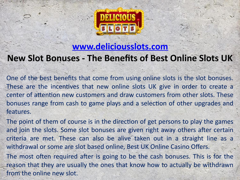 Slot Bonuses Uk