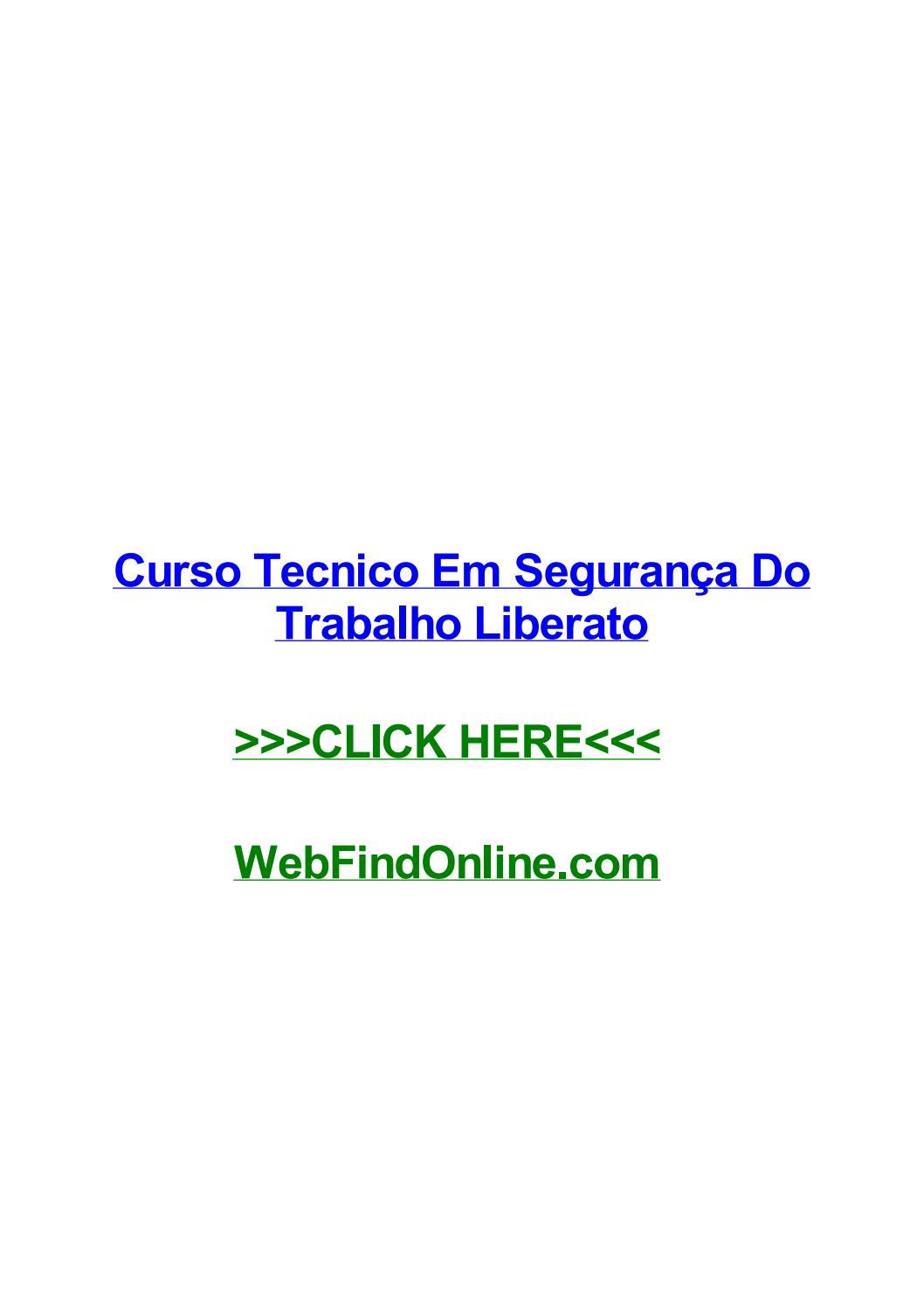 a0ce840c1094e Curso tecnico em seguranг§a do trabalho liberato by jaylcmd - issuu