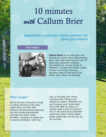 Page 17 of 10 Minutes with Callum Brier